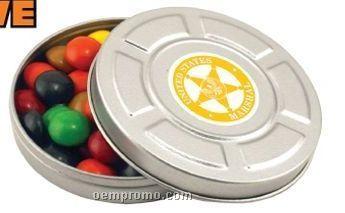 Mini Movie Reel Tin W/ Chocolate Drops ( 2 Day Service)