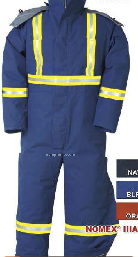 """Nomex Iiia Insulated Winter Coverall W/ 2"""" Fr #9187 Reflective Tape (S-xl)"""