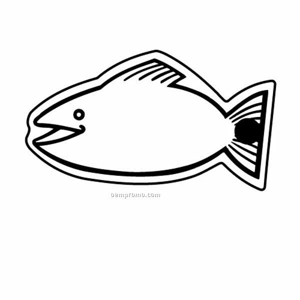 Stock Shape Collection Fish 5 Key Tag