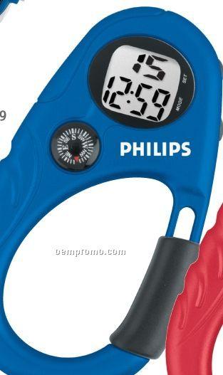 Clip-on Digital Clock W/ Compass