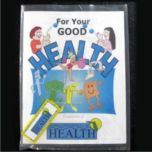 Good For Your Health Coloring Book With Crayons