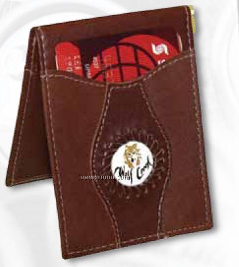 Leather Money Clip W/ Medallion