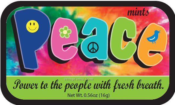 Peace Mint Tin W/ 4-color Process Label (72 Mints)