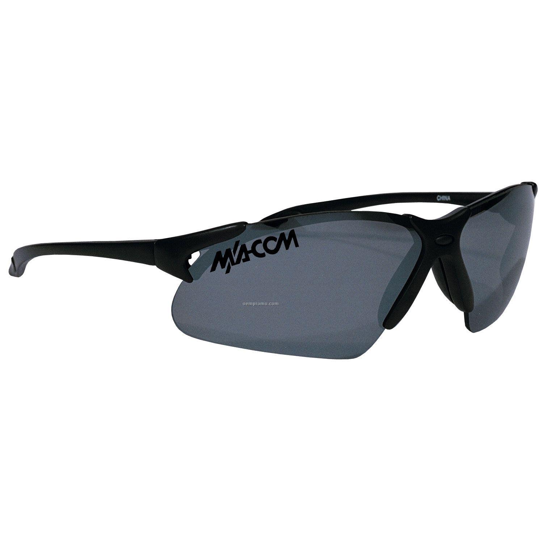 Sport Wraps X-treme Blade Black Frame Sunglasses W/ Mirror Lens
