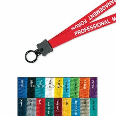 """1/2"""" Cotton Lanyard W/ O Ring - 1 Color"""