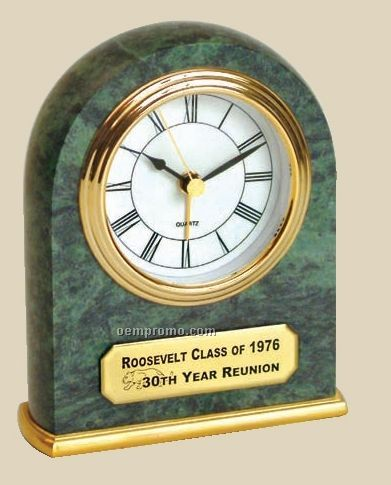 Arched Genuine Marble Clock