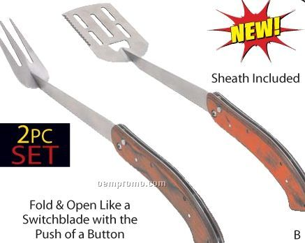 Chefmaster 2 PC Switch Blade Barbeque Tool Set