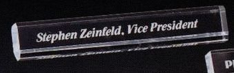 Deluxe Rectangle Name Plate Desk Plaque (2