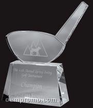 Small Optical Crystal Golf Driver Award