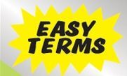 """Static Cling Windshield Sign (Easy Terms) (18""""X12"""")"""
