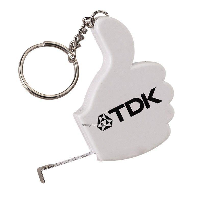 Thumbs Up Key Tag Tape Measure