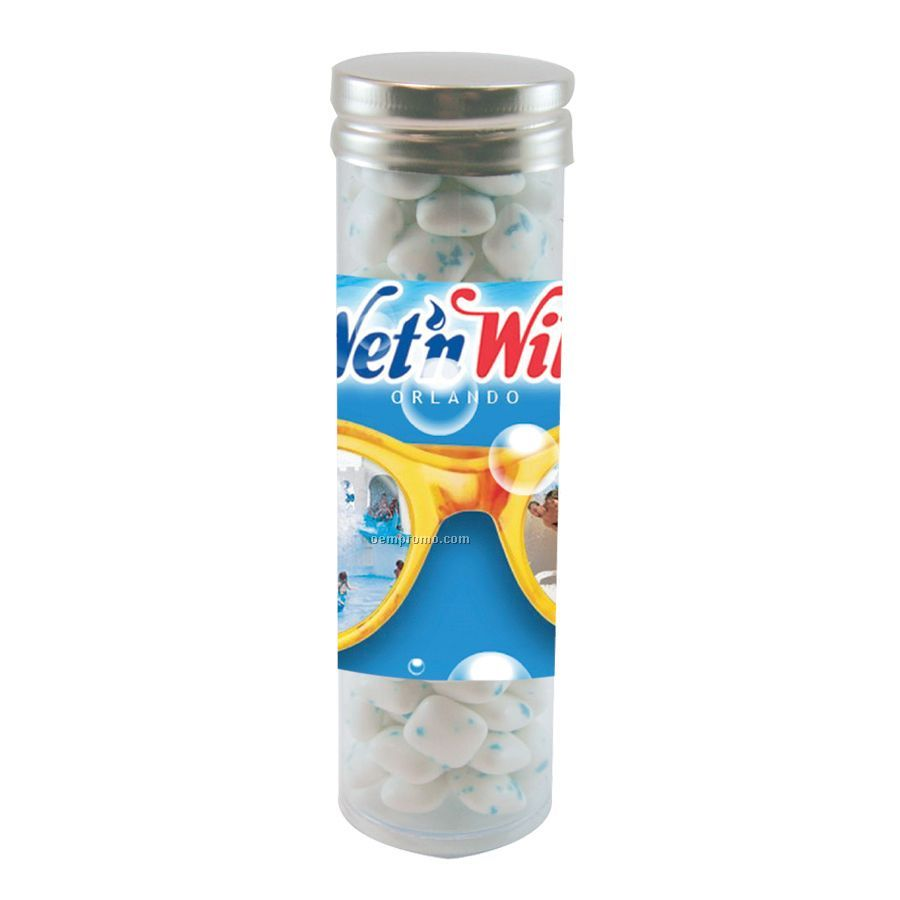 Large Gourmet Plastic Candy Tube With Sugar Free Gum