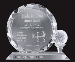 Large Optical Crystal Golf Trophy
