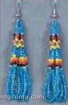 Metallic Turquoise Loop Earrings