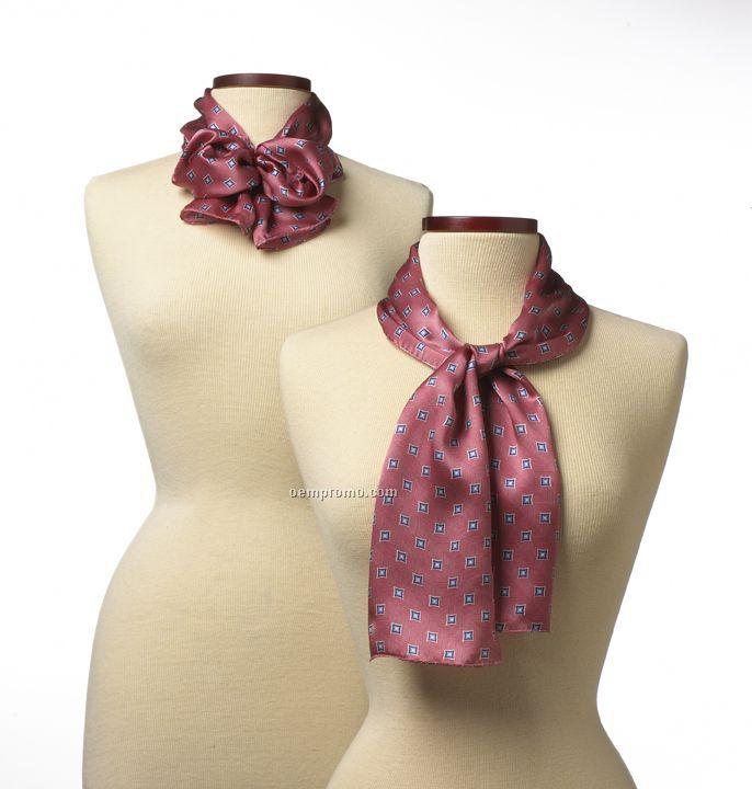 "Wolfmark Pink Vasari Polyester Scarf (45""X8"")"