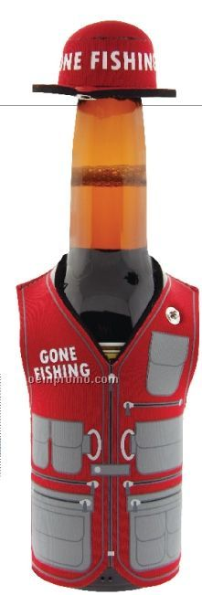 Gone Fishing Stubby Cooler (Direct Import-10 Weeks Ocean)