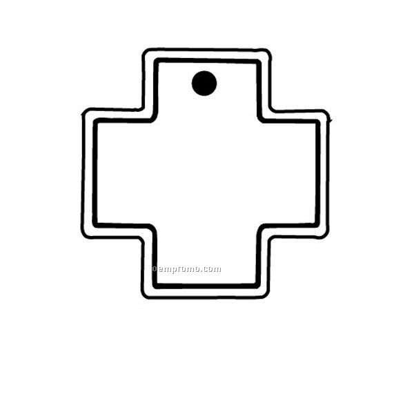 Stock Shape Collection Squared Cross 1 Key Tag
