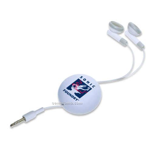White Meego Earbuds