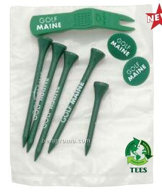 """2 3/4"""" Tees, 2 Markers & 1 Divot Tool"""