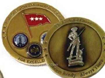 3.0 Mm 3-d Brass Coin