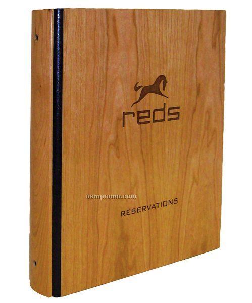 "Authentic Wood Binder W/3 Ring Interior (8-1/2""X11"")"