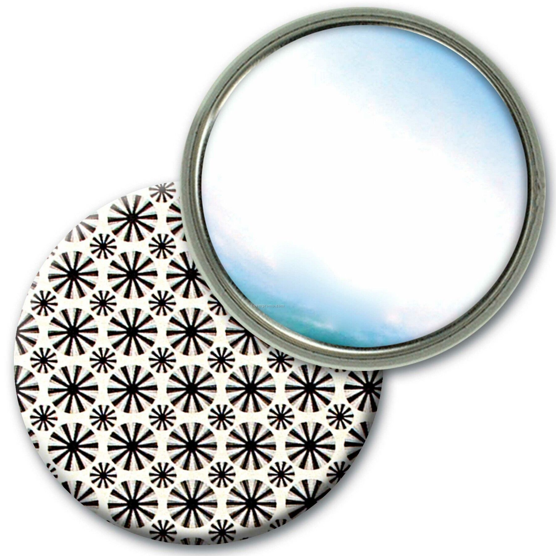 Compact Mirror Lenticular Animated Wheels Effect (Blank)