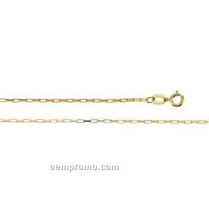 "Ladies' 7"" 14ky 1-1/4mm Long Box Chain Bracelet"