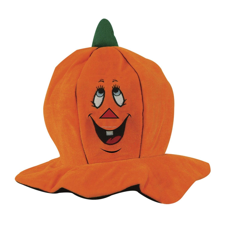 Plush Jack-o-lantern Hat