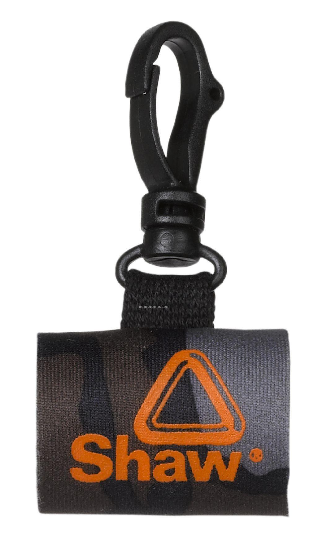 0.5 Oz. Neoprene Bottle Sleeve With Swivel Snap Hook