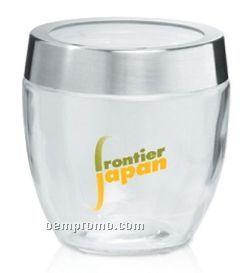 27 Oz. Promotional Glass Candy Jar W/ Metal Lid