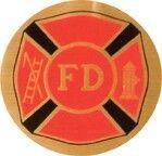 """Full Color Mylar Insert - 2"""" Fire Department"""