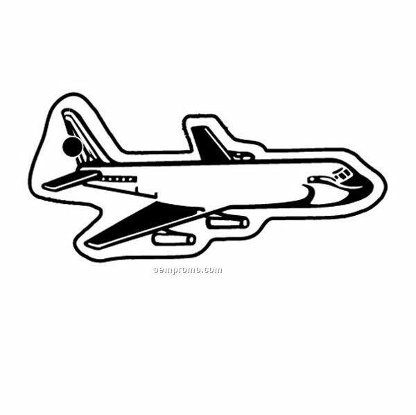 Stock Shape Collection Airplane W/ Little Detail Key Tag