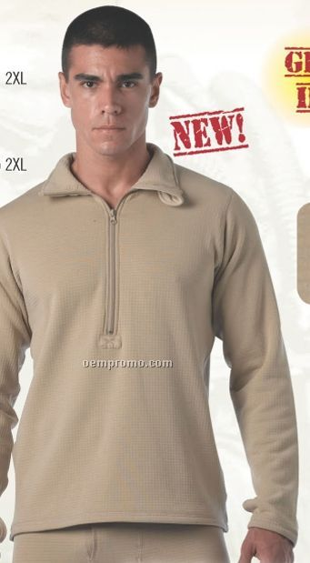 Sand Beige Military Ecwcs Generation III Midweight Thermal Underwear Top