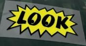 Static Cling Windshield Sign (Look)