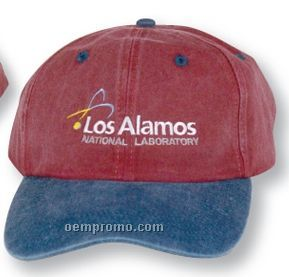 The Langley Washed Cotton Cap - Solid & 2 Tone Color Options (Suede Puff)