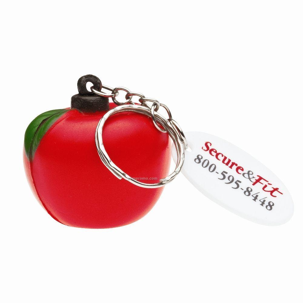 Apple Stress Keychain