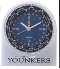 Cast Aluminum World Time Alarm Clock