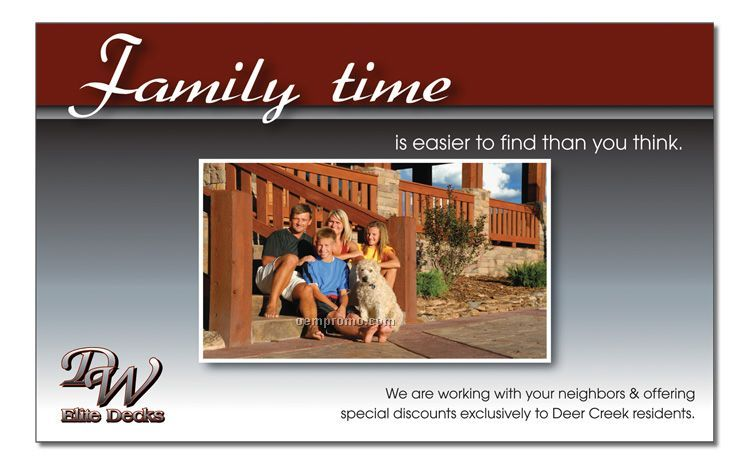 "Laminated Post Card - 8.5"" X 11.0"""