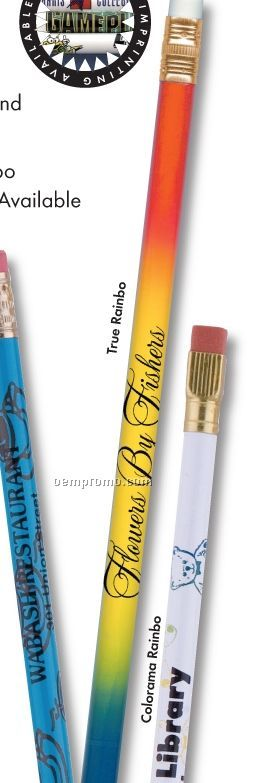 Colorama Single Square Ferrule #2 Pencil W/ Ribbons Background