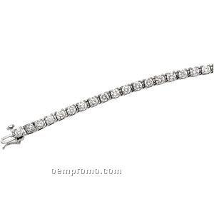 Ladies' 14kw 4-1/2 Ct Tw Diamond Round Bracelet