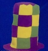 Mardi Gras Checkered Top Hat