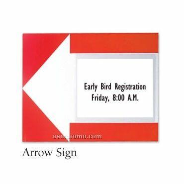 """Slip In Arrow Sign Holder 10 Pack - Blank (16""""X20"""")"""
