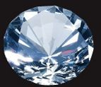 Small Optical Crystal Diamond Paperweight