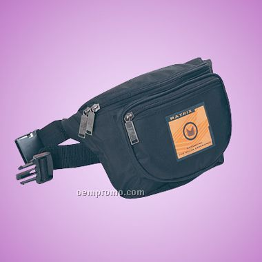 "Classic Three Pocket Fanny Pack (12""X5-3/4""X2-1/2"")"