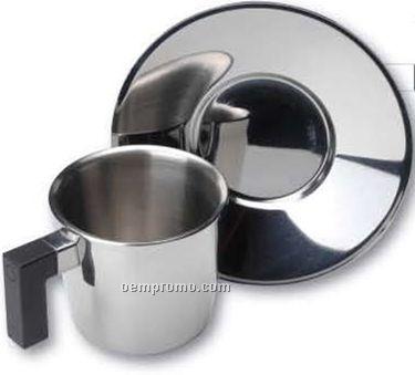 Cubo Coffee Or Tea Cup & Saucer (6.1 Oz.)