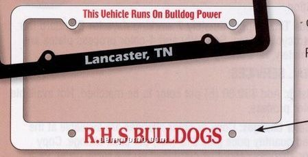 Deluxe Car Plate Frame W/ Large Bottom