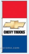 Stock Single Face Dealer Rotator Drape Flags - Chevy Trucks