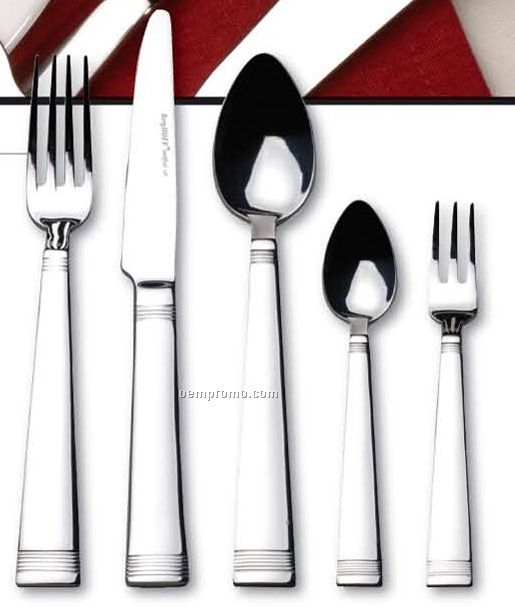 14 Piece Limonia Diritto Gold Accent Flatware Set