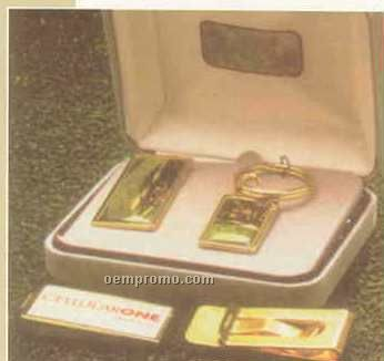 24k Gold Dipped Money Clip (2 Color Label & Dome)