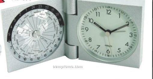 Aluminum World Travel Alarm Clock